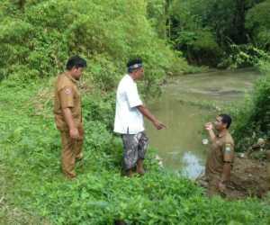 Diberitakan Tersumbat, BPBK Abdya Tinjau Aliran Sungai Krueng Manggeng