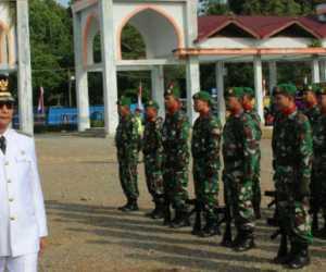 Polres Nagan Raya Gelar Upacara HUT Bhayangkara ke 73