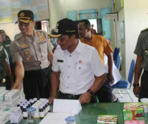 Melalui Pencanangan Program KB-Kesehatan, Kodim 0116 Lakukan Pengobatan Massal