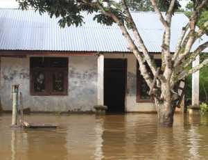 Luapan Air Krueng, Woyla 11 Desa di Aceh Barat Terendam Banjir
