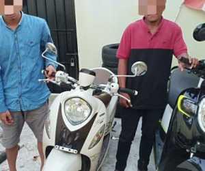 Diduga Mencuri Sepeda Motor Dua Pria di Tangkap Polisi