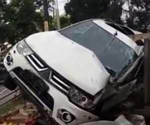 Pajero Terguling di Aceh Jaya, Tiga Orang Dilarikan ke Rumah Sakit