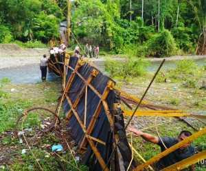 Miris..! Jembatan Tua di Aceh Selatan Telan Korban Jiwa