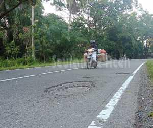 Dalam Seminggu Lubang Maut di Nagan Raya Sebabkan 2 Kecelakaan