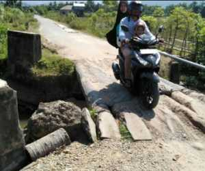 Jembatan Rubek Meupayong di Abdya Tak Kunjung Dibangun