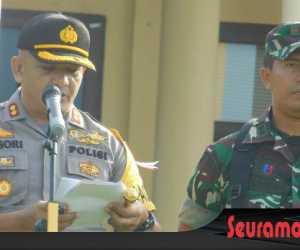 Dalam Rangka Pengamanan Pemilu 2019, Polres Abdya Laksanakan Apel Gelar Pasukan