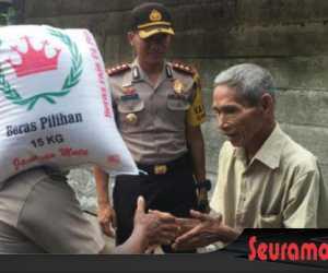 Kaum Dhuafa Dapat Bantuan Dari Kapolres Nagan Raya