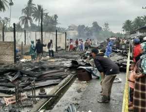 BREAKINGNEWS- Kebakaran Hebat Terjadi di Bakongan Aceh Selatan
