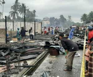 Puluhan Unit Ruko Terbakar di Keude Paya Bakong Aceh Utara