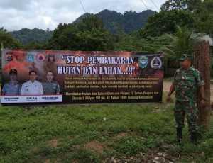 Kodim Aceh Jaya Lakukan Hal Ini Untuk Cegah Karhutla