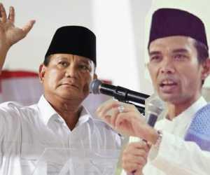 Bukan AHY, Prabowo Berpeluang Menang Bersama Ustaz Abdul Somad