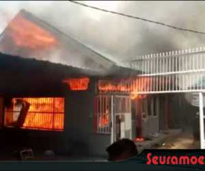 Satu Unit Rumah Warga Aceh Jaya Terbakar