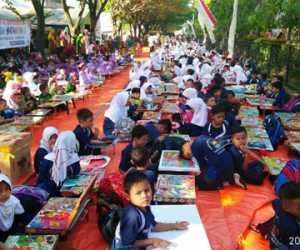 Lomba Mewarnai Tingkat Anak-Anak Meriahkan HUT RI ke 74 di Abdya