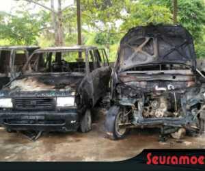 Ini Penyebab Terbakarnya Empat Mobil Pemkab Abdya