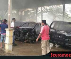 Empat Unit Mobil Dinas Pemkab Abdya Hangus Terbakar