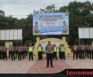 Polres Nagan Laksanakan Apel Gelar Pasukan Operasi Ketupat Rencong 2019