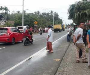 Sepuluh Sepmor dan Satu Mobil Mengalami Kecelakaan di Nagan Raya
