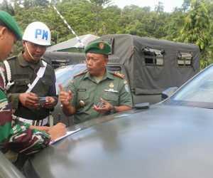 Kendaraan Dinas dan Pribadi Prajurit TNI Kodim Aceh Jaya di Periksa