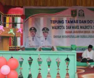 Santri Pesantren Hidayatullah Gelar Doa dan Peusijuk Wali Kota