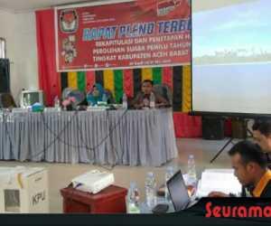 KIP Abdya Gelar Rapat Pleno Rekapitulasi Surat Suara