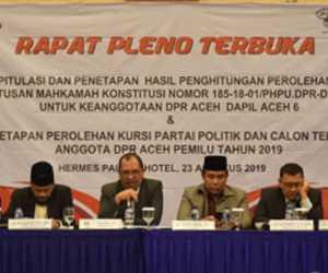 Ini Nama-Nama 81 Anggota DPR Aceh Terpilih