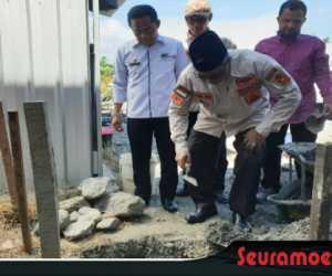 Ramli MS Letak Batu Pertama Pembangunan Balei Sumeubeut Di Palu