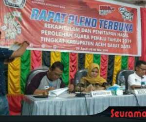 Proses Rekapitulasi Suara di Kabupaten Abdya Selesai