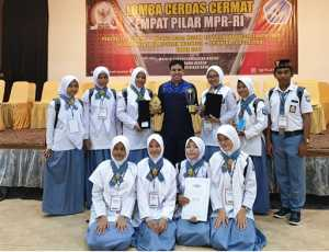 AMF Apresiasi Keberhasilan Siswa Nagan Juarai CC Empat Pilar MPR-RI