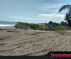 Jalan di Indra Puri dan Pasi Lhok Aron Tertutup Pasir