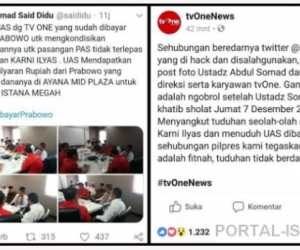 """Sadis! tvOne dan UAS di Fitnah Akun """"Said Didu"""""""