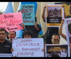 Jurnalis Banda Aceh Gelar Aksi Protes Kekerasan Terhadap Wartawan