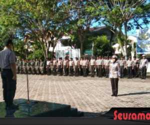 Kapolres Aceh Barat Pimpin Upacara Apel Gelar Pasukan