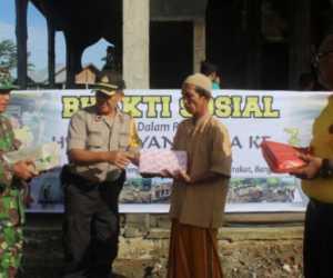 HUT Bhayangkara ke 73, Polres Nagan Raya Bantu Pembangunan Masjid Al Fatah