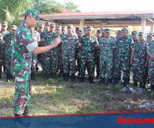 Menjaga Keamanan Pemilu, Kodim 0116 Siagakan Satu Pleton Pasukan