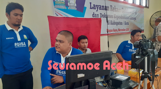DRKA Adakan Rekam KTP Elektronik dan Dokumen Kependudukan di Nagan Raya