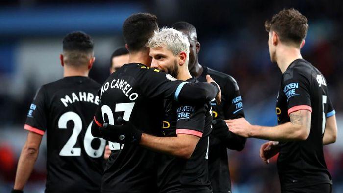 Man City Pesta Gol Saat Menjamu Aston Villa, Aguero Pahlawan Hat-trick