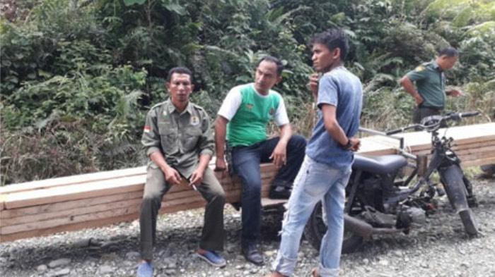 KPH Wilayah IV Aceh Amankan Kayu Olahan di Nagan Raya