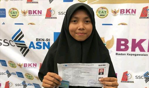Puteri Adi Lestari Raih Nilai Tertinggi Dihari Ketiga Tes SKD di Nagan Raya