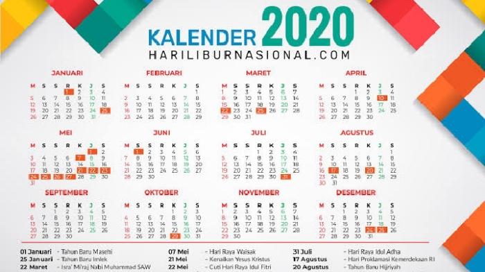 Pemerintah Revisi Tanggal Cuti Bersama Tahun 2020 Berikut Daftar Lengkapnya