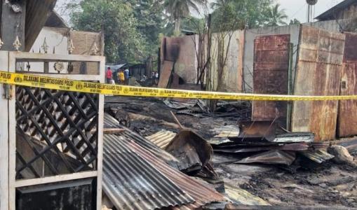 Dini Hari Tadi, Puluhan Ruko di Aceh Timur Ludes Terbakar
