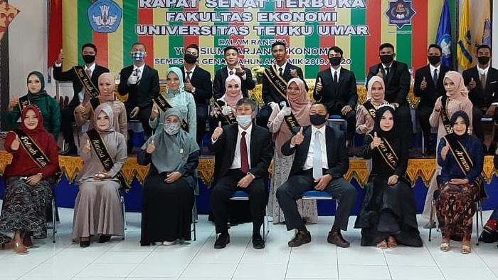 Fakultas Ekonomi UTU Gelar Yudisium, Terapkan Protokol Kesehatan dan Semi Online