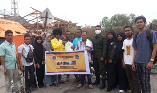 KBM UTU Salurkan Bantuan Untuk Korban Kebakaran di Aceh Barat