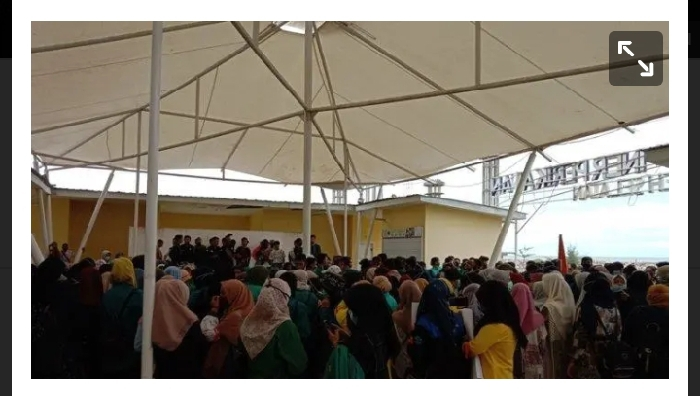Tolak Omnibus Law UU Cipta Kerja, Mahasiswa Aceh Selatan Geruduk Gedung DPRK