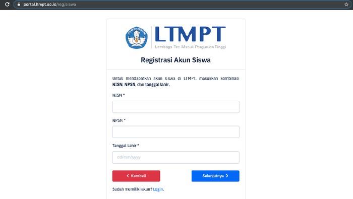 Berikut Jadwal Pendaftaran Akun LTMPT