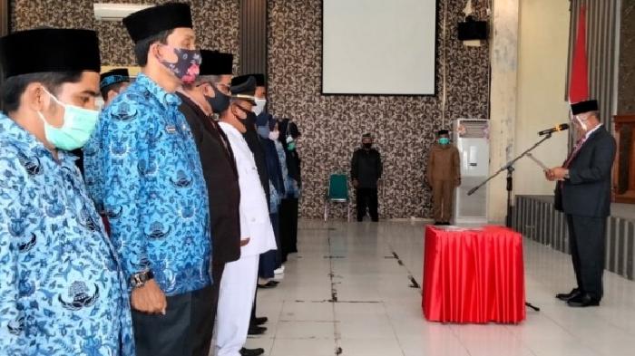 Bupati Aceh Barat Kukuhkan Puluhan Pejabat Baru