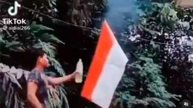 Video Bakar Bendera Merah Putih, Diduga Warga Aceh