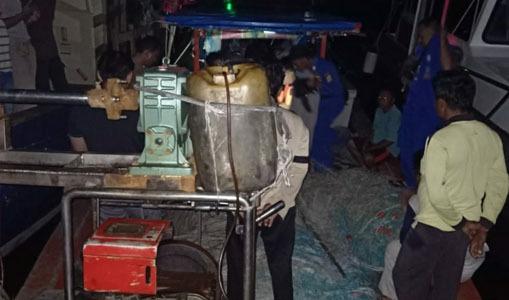 Kapal Nelayan Asal Sibolga Ditangkap Sat Airud Polres Simeulue