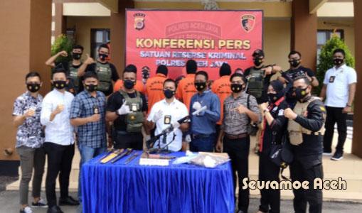 Selama 2021 Polres Aceh Jaya ungkap Tiga Kasus