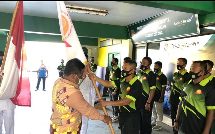 Sah! Lettu Inf Izdihar Jabat Ketua Baveti Aceh Jaya