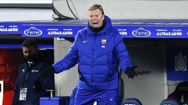 Kritik Lini Depan Barcelona, Koeman: Tolong Bantu Messi!